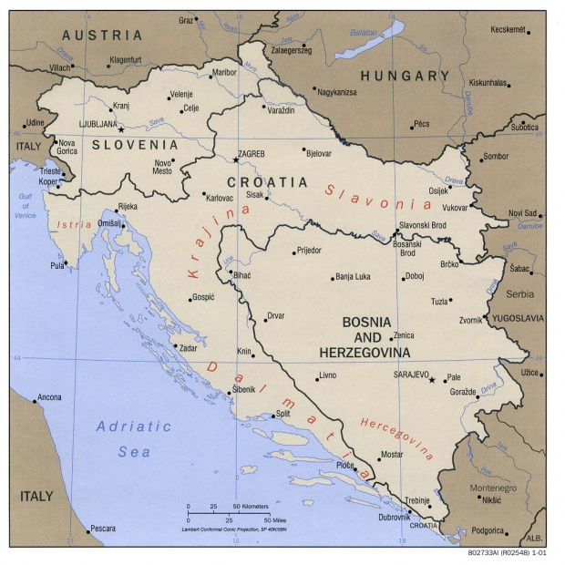 Eslovenia, Croacia, Bosnia y Herzegovina