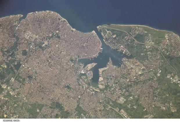 Foto Satelite de la Vieja Habana