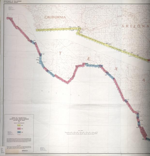 Frontera de México-Estados Unidos, Indice de Mapas 1
