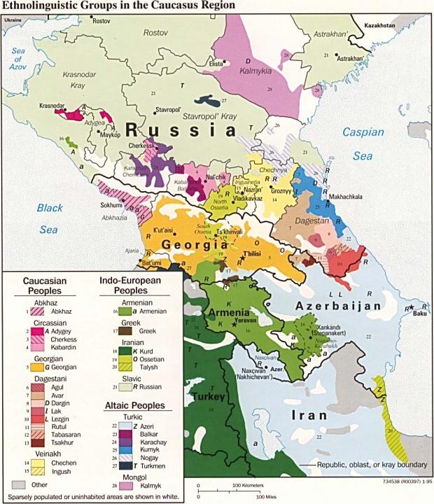Grupos Etnolingüísticos de la Región Cáucaso
