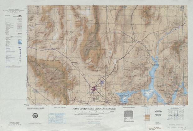 Hoja Las Vegas del Mapa de Operaciones Conjuntas, Estados Unidos 1954