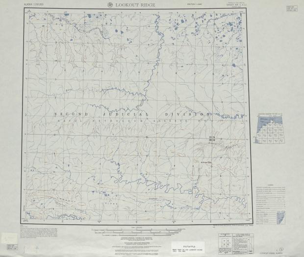 Hoja Lookout Ridge del Mapa Topográfico de los Estados Unidos 1951