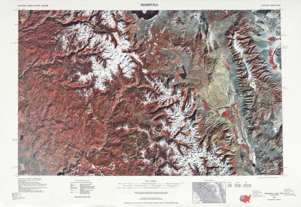Hoja Mariposa de la Imagen Satelital de los Estados Unidos 1970