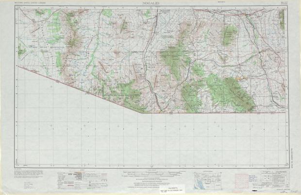 Hoja Nogales del Mapa Topográfico de los Estados Unidos 1969