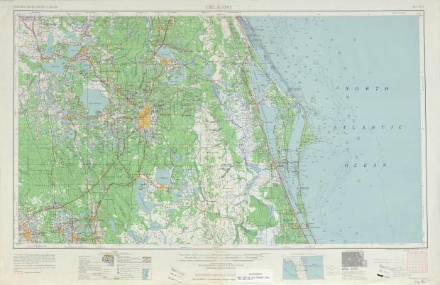 Hoja Orlando del Mapa Topográfico de los Estados Unidos 1962