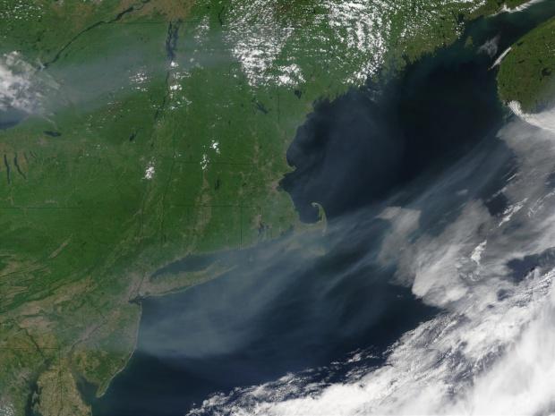 Humo de los incendios en Canadá cerca de Nueva Inglaterra