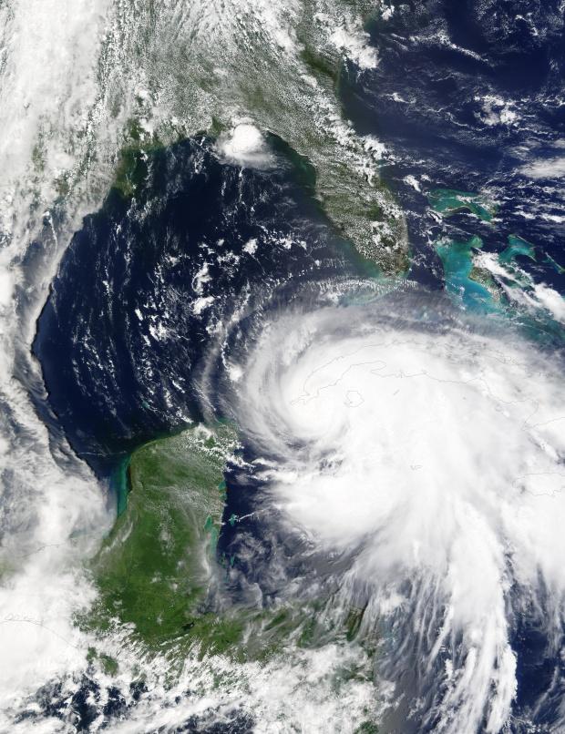Huracán Isidore encima de Cuba