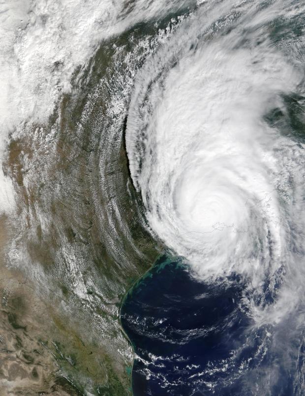 Huracán Lili encima de Luisiana