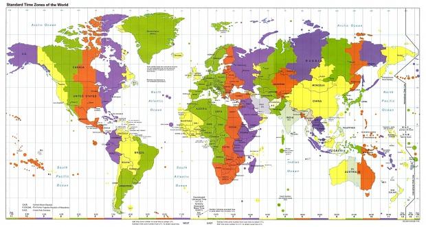 Husos horarios o zonas horarias 1995