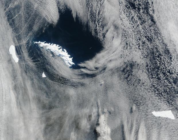 Icebergs alrededor de las Islas Georgias del Sur, sur Océano Atlántico