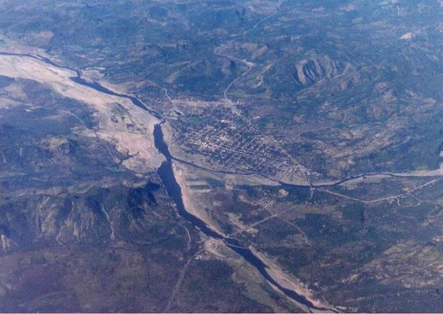 Imagen, Foto Satelite, Ciudad y Rio Nacaome, Honduras