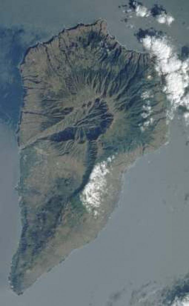 Imagen, Foto Satelite, Isla La Palma, Canarias, España