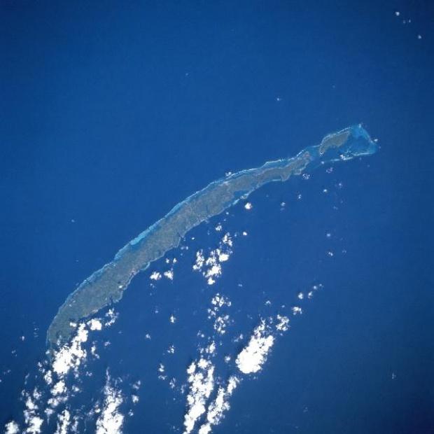 Imagen, Foto Satelite, Isla Roatan, Islas de la Bahia, Honduras