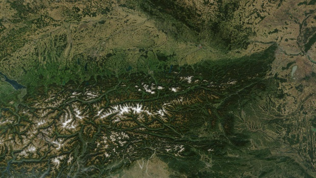 Imagen, Foto Satelite de Austria