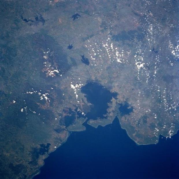 Imagen, Foto Satelite de Bahía de Nipe, Provincia de Holguin, Cuba