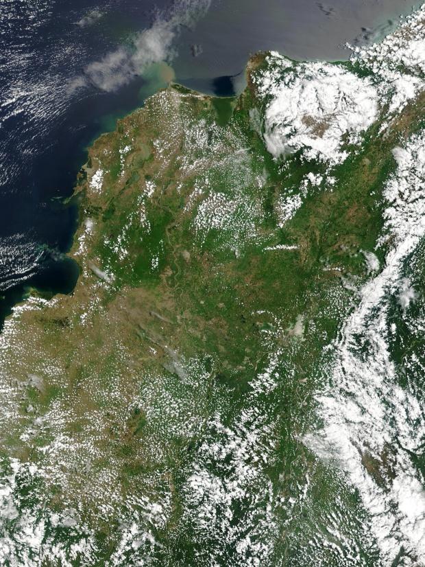 Imagen, Foto Satelite de Colombia