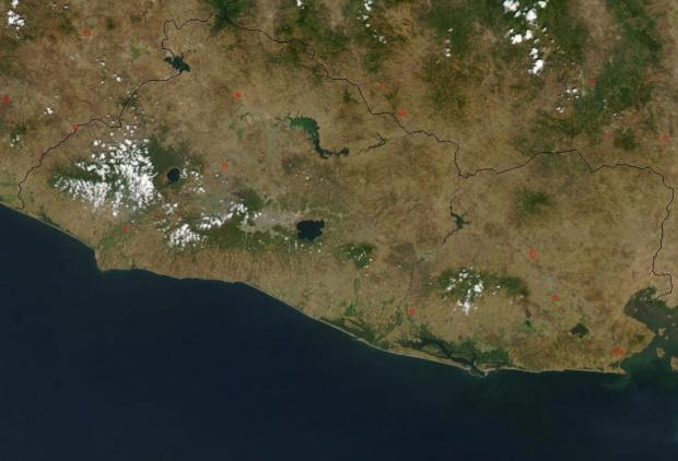 Imagen, Foto Satelite de El Salvador