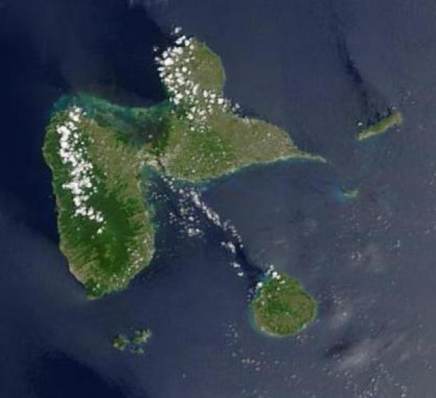 Imagen, Foto Satelite de Guadalupe (Francia)