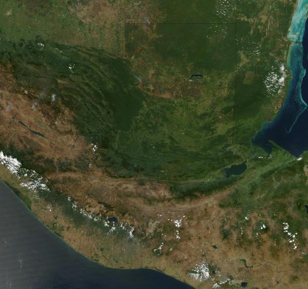 Imagen, Foto Satelite de Guatemala