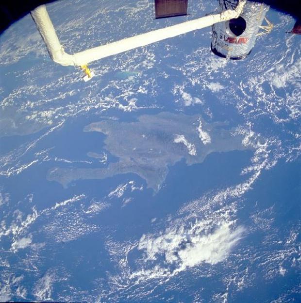 Imagen, Foto Satelite de Hispaniola (Isla de Santo Domingo)