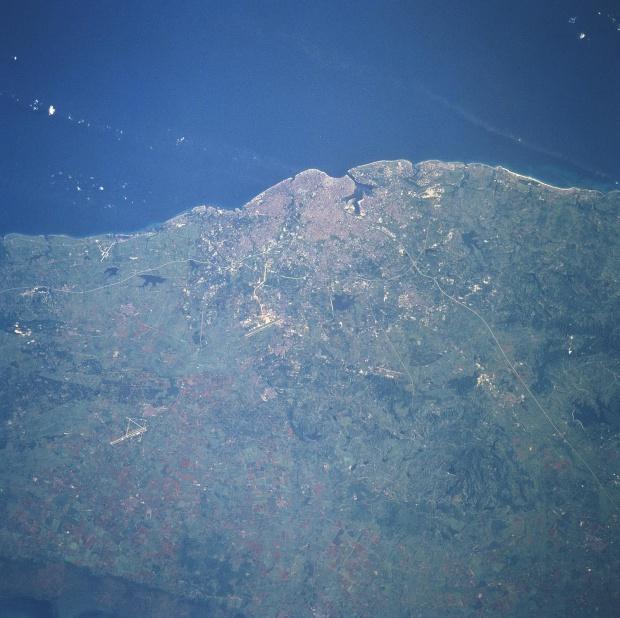 Imagen, Foto Satelite de La Habana (Ciudad Capital)