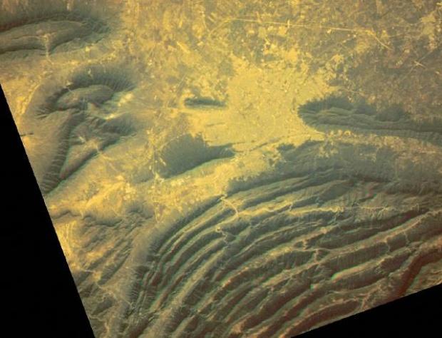 Imagen, Foto Satelite de Monterrey, Nuevo León, Mexico