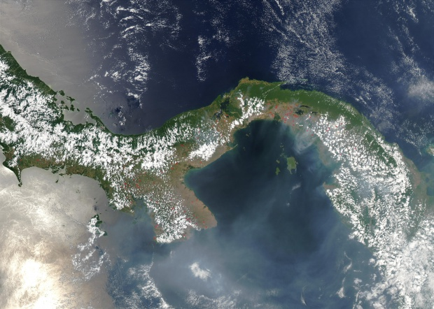 Imagen, Foto Satelite de Panamá