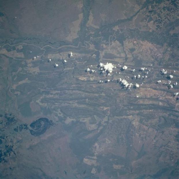Imagen, Foto Satelite de Rio Paraguai, Estado Mato Grosso, Brasil