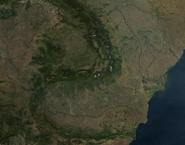 Imagen, Foto Satelite de Rumania