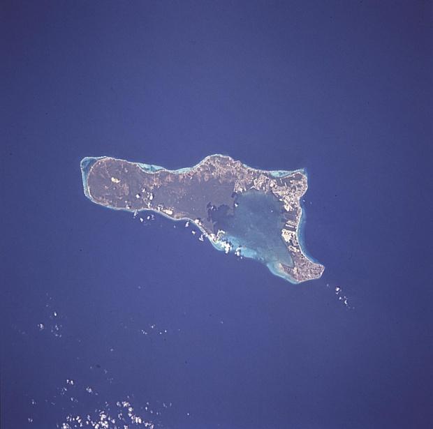 Imagen, Foto Satelite de la Isla Gran Caiman, Islas Caiman