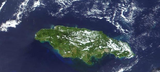 Imagen, Foto Satelite de la Isla de Jamaica