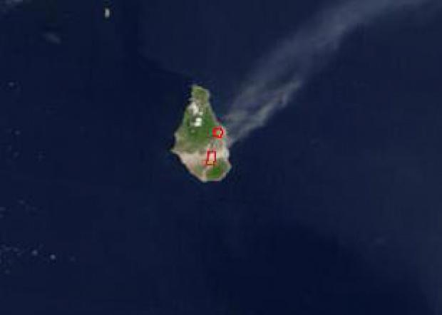 Imagen, Foto Satelite de la Isla de Montserrat
