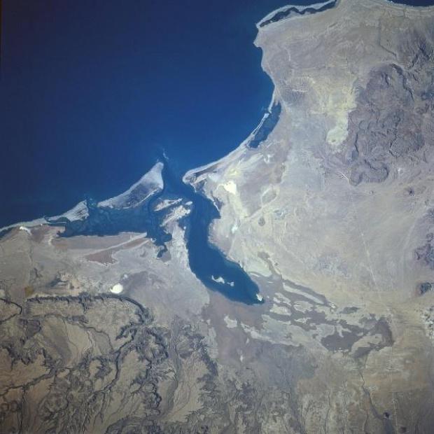Imagen, Foto Satelite de la Laguna San Ignacio, Baja California Sur, Mexico