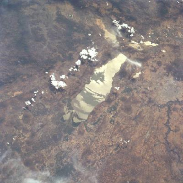 Imagen, Foto Satelite de la Laguna de Chapala, Jalisco, Mexico
