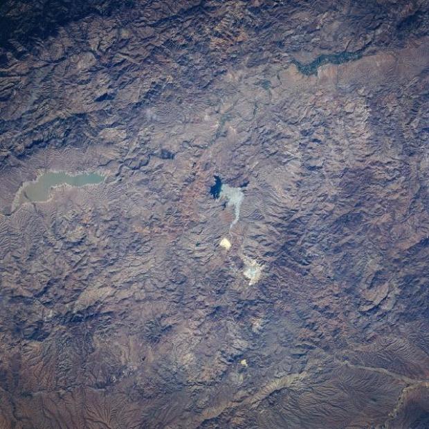 Imagen, Foto Satelite de la Mina la Caridad, Sonora, Mexico