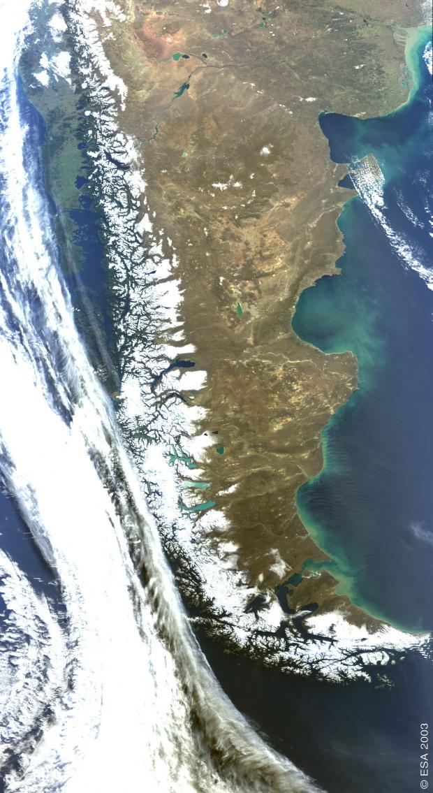 Imagen, Foto Satelite de la Patagonia, Argentina