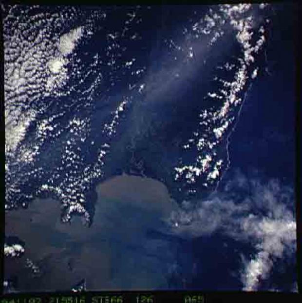 Imagen, Foto Satelite de la Punta Garachine, Panamá