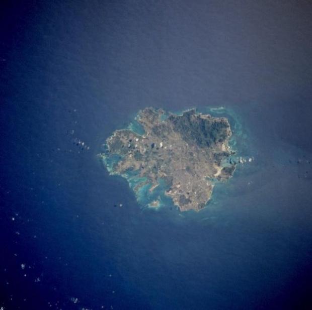 Imagen, Foto Satelite de las Islas Antigua y Leeward (Antigua y Barbuda)