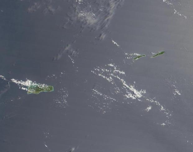 Imagen, Foto Satelite de las Islas Caiman