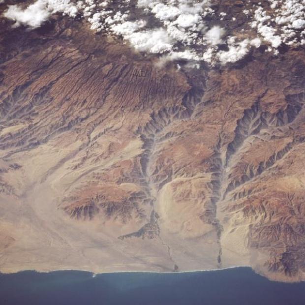 Imagen, Foto Satelite de los Cañones de los Rios Yauca y Acari, Peru