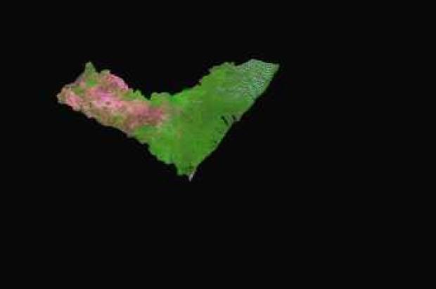 Imagen, Foto Satelite del Estado de Alagoas, Brasil