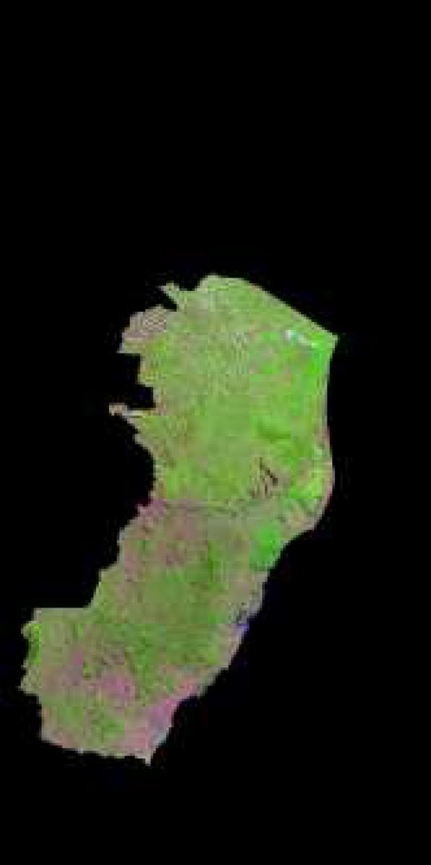 Imagen, Foto Satelite del Estado de Espírito Santo, Brasil