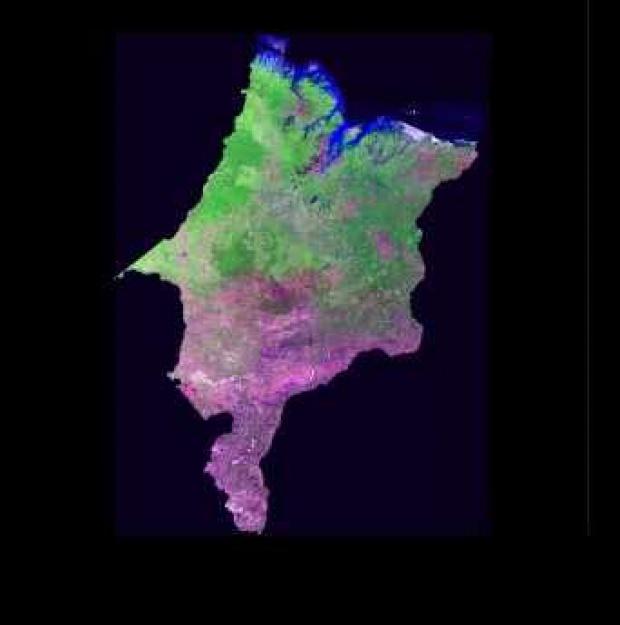 Imagen, Foto Satelite del Estado de Maranhão, Brasil