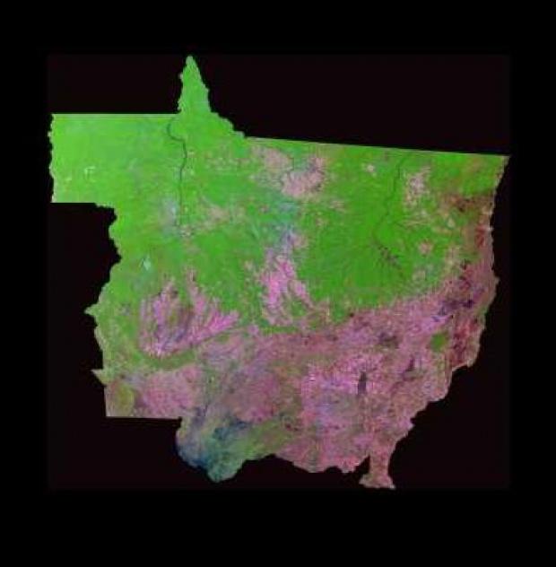 Imagen, Foto Satelite del Estado de Mato Grosso, Brasil