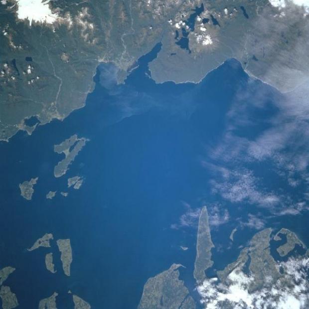Imagen, Foto Satelite del Golfo de Corcovado, Chile