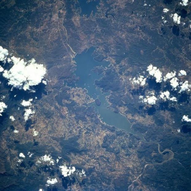 Imagen, Foto Satelite del Lago Oviachic, Sonora, Mexico