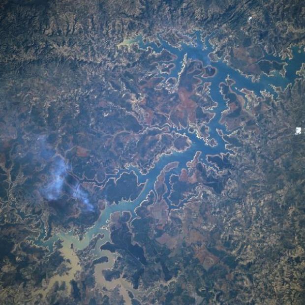 Imagen, Foto Satelite del Reservoir Tres Marias, Minas Gerais, Brasil