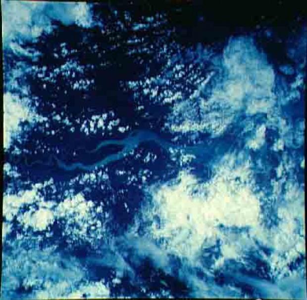 Imagen, Foto Satelite del Rio Tuira, Panamá