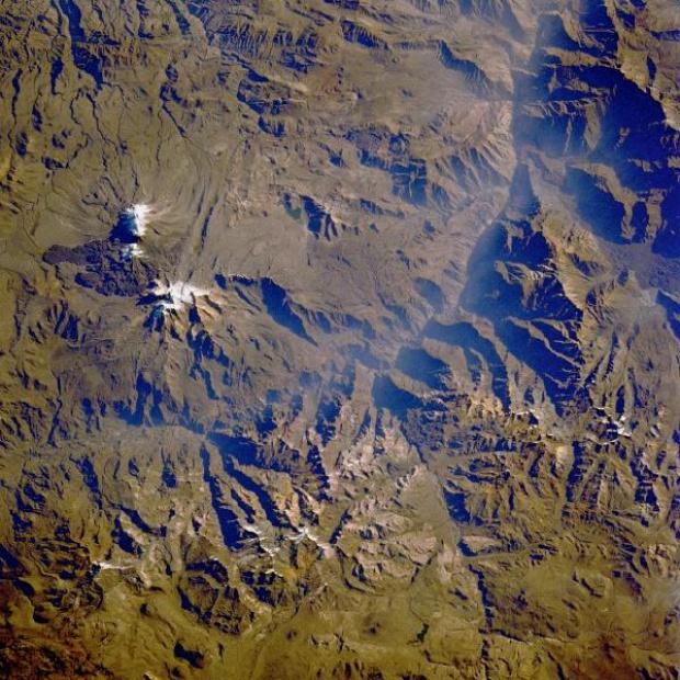 Imagen, Foto Satelite del Volcan Ampato, Peru