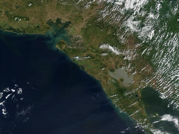 Imagen, Foto Satelite del Volcán San Cristobal, Nicaragua
